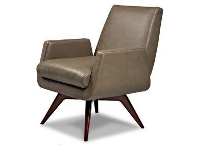 American Leather Marshall Swivel Chair