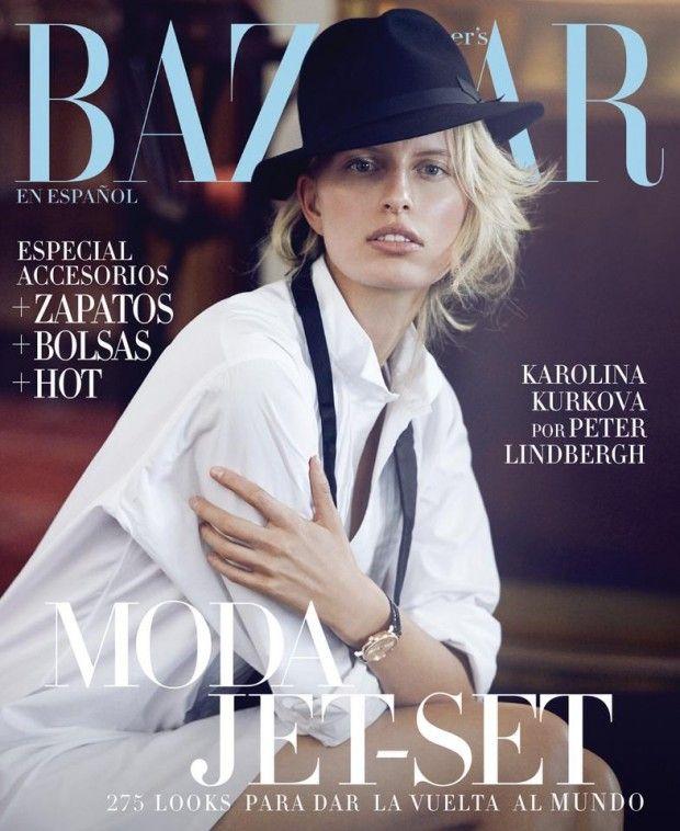 Harper's Bazaar México & Latam October 2014 | Karolina Kurkova by Peter Lindbergh