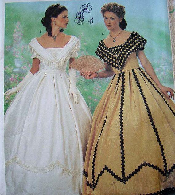 PATTERN Civil War Dress COSTUME Historical Reenactment by App ...