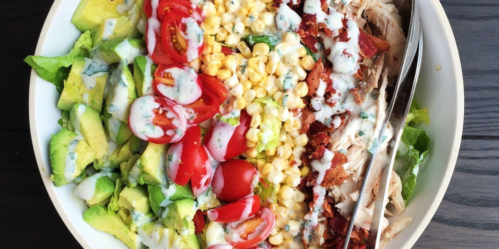 Summery Cobb Salad With Buttermilk Dressing Recipe Dinner Salads Summer Salads Delicious Salads