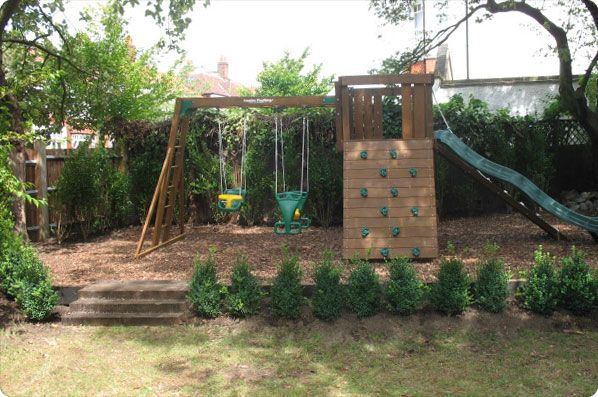 garden design ideas with childrens play area - Garden Design Kids