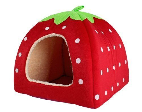 BeautyLife Soft Sponge Strawberry Small Cotton Soft Dog
