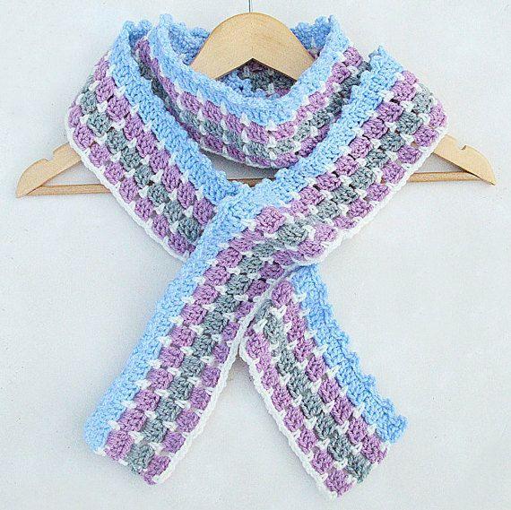 Ganchillo bufanda de rayas mosaico pdf patrón por crochetxoxoshop ...
