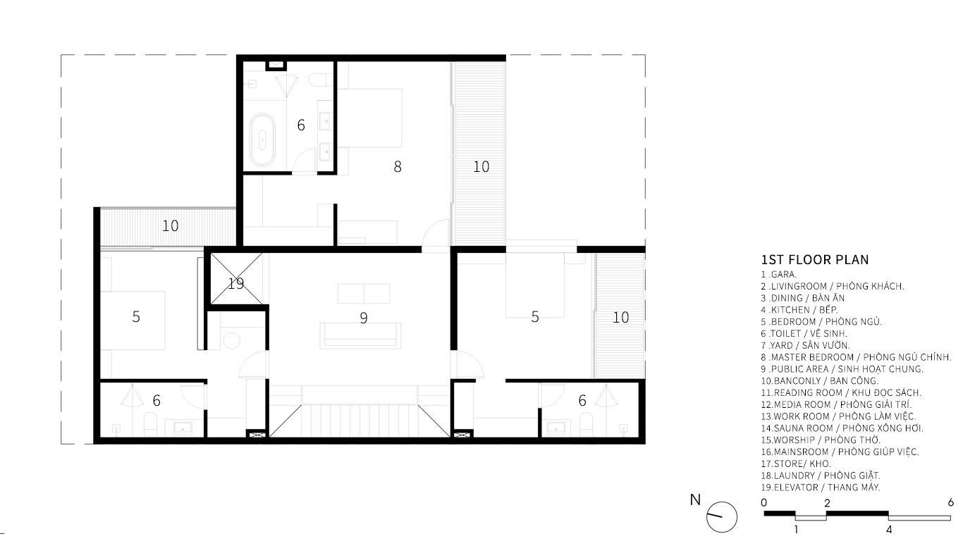 Gallery Of Trung Villa Evitarchitecture 26 In 2020 Villa Floor Plans Ground Floor Plan