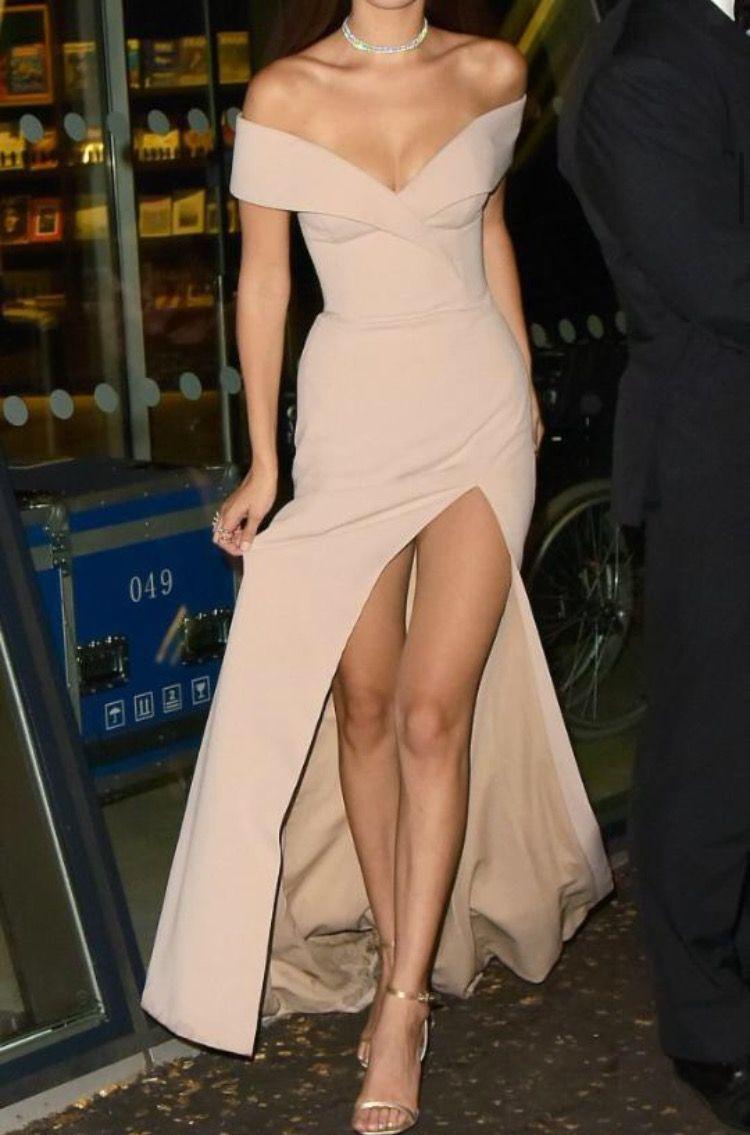 hugo boss bardot gown (pretty sure that's a headless bella