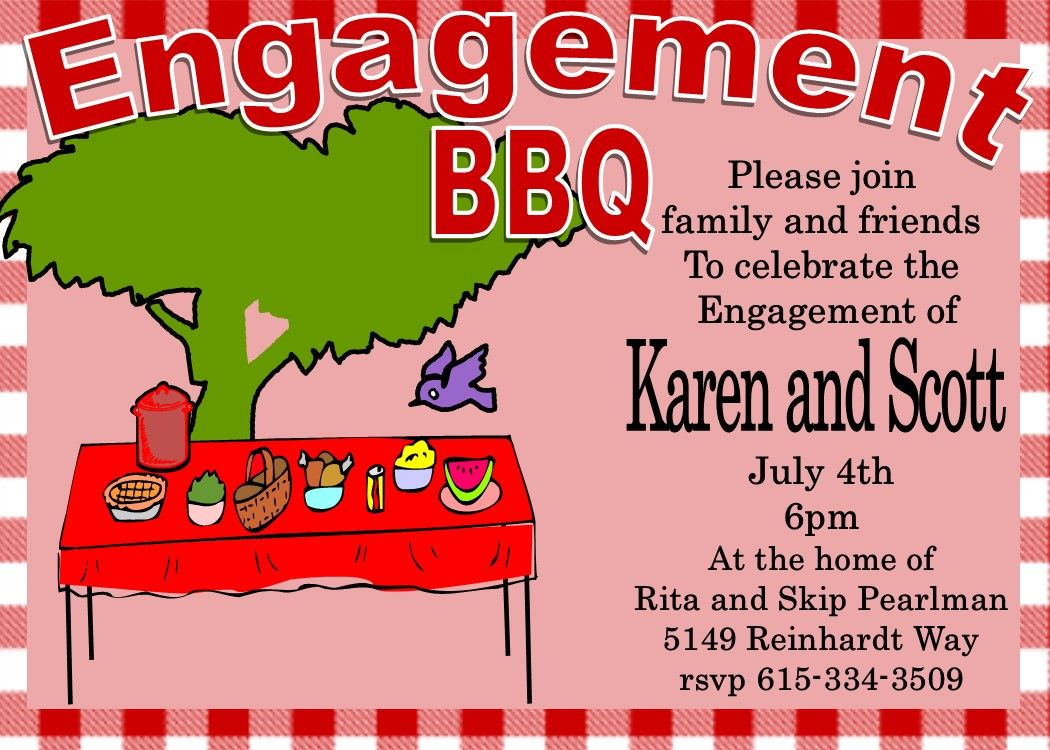 Engagement Barbecue - I do BBQ Party Invitations | engagement party ...