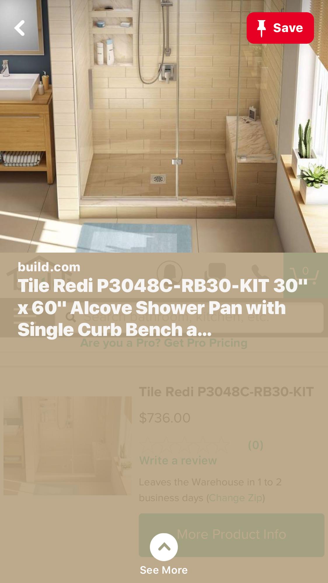 Pin By Audrey Rivers On Bathroom Shower Pan Tile Redi Bathtub
