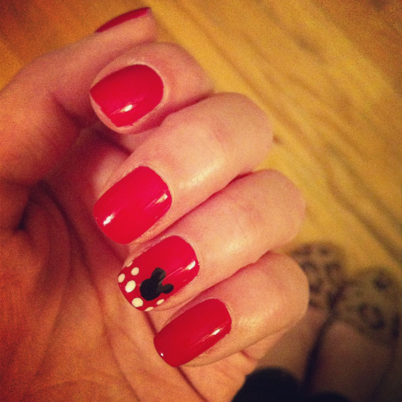 Mickey Mouse nails by our talented nail technician, April! #manicure ...