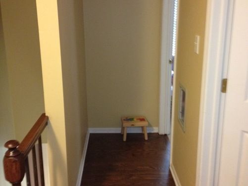 Need Help With My Foyer Landing Stairs Home Decor Benjamin Moore Lady Fingers