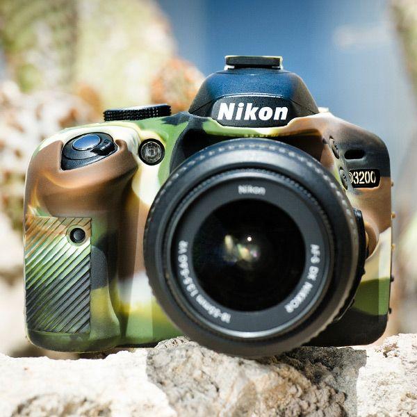 Capa de Silicone para Nikon D3200. Protege de risco, arranhões e em caso de quedas. Por que quem ama, cuida!!  #nikon #d3200 #cover #proteção #emania #photography