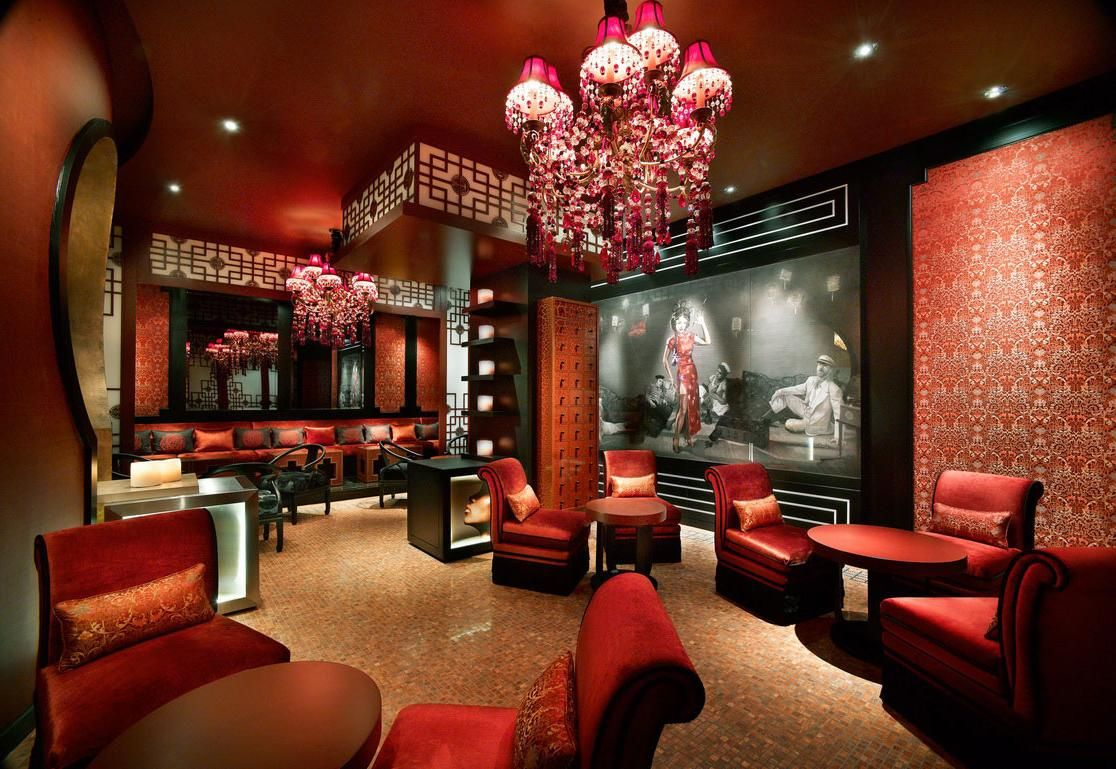 Classic modern chinese red interior design home decor for Asian inspired decor