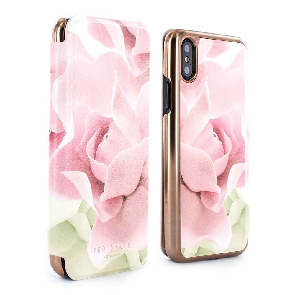competitive price ec9e0 e7e46 Ted Baker KNOWISE Mirror Folio Case for iPhone X / XS - Porcelain ...