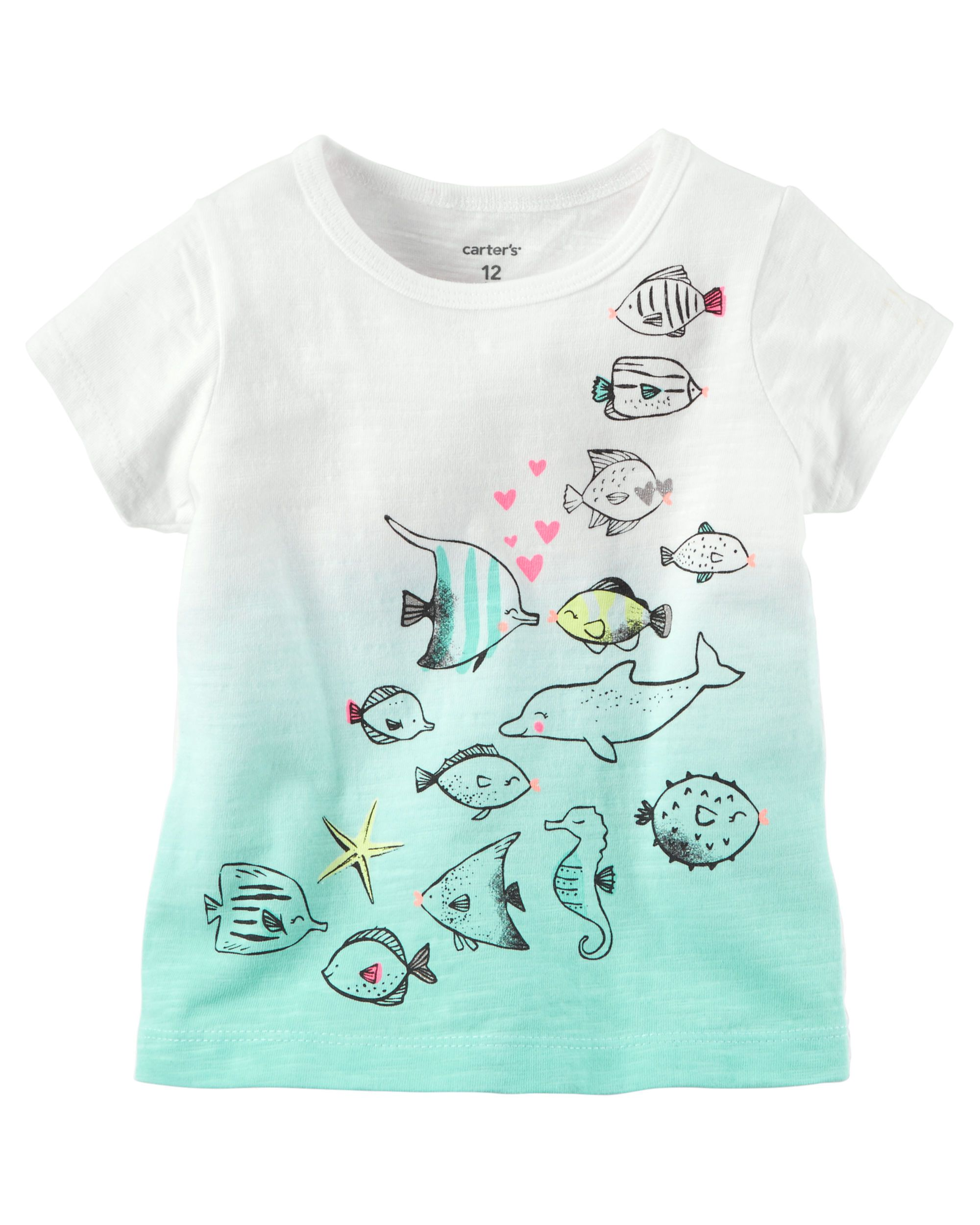 a9b57804 Baby Girl Sea Creature Glitter Graphic Tee from Carters.com. Shop clothing  & accessories from a trusted name in kids, toddlers, and baby clothes.