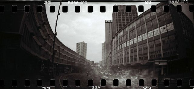 Smallbrook Queensway, Birmingham V by Twizzer88 on Flickr.Via Flickr: LOMOGRAPHY SPROCKET ROCKET with OLYMPUS TRIP 35 with LOMOGRAPHY LADY GREY B&W 400