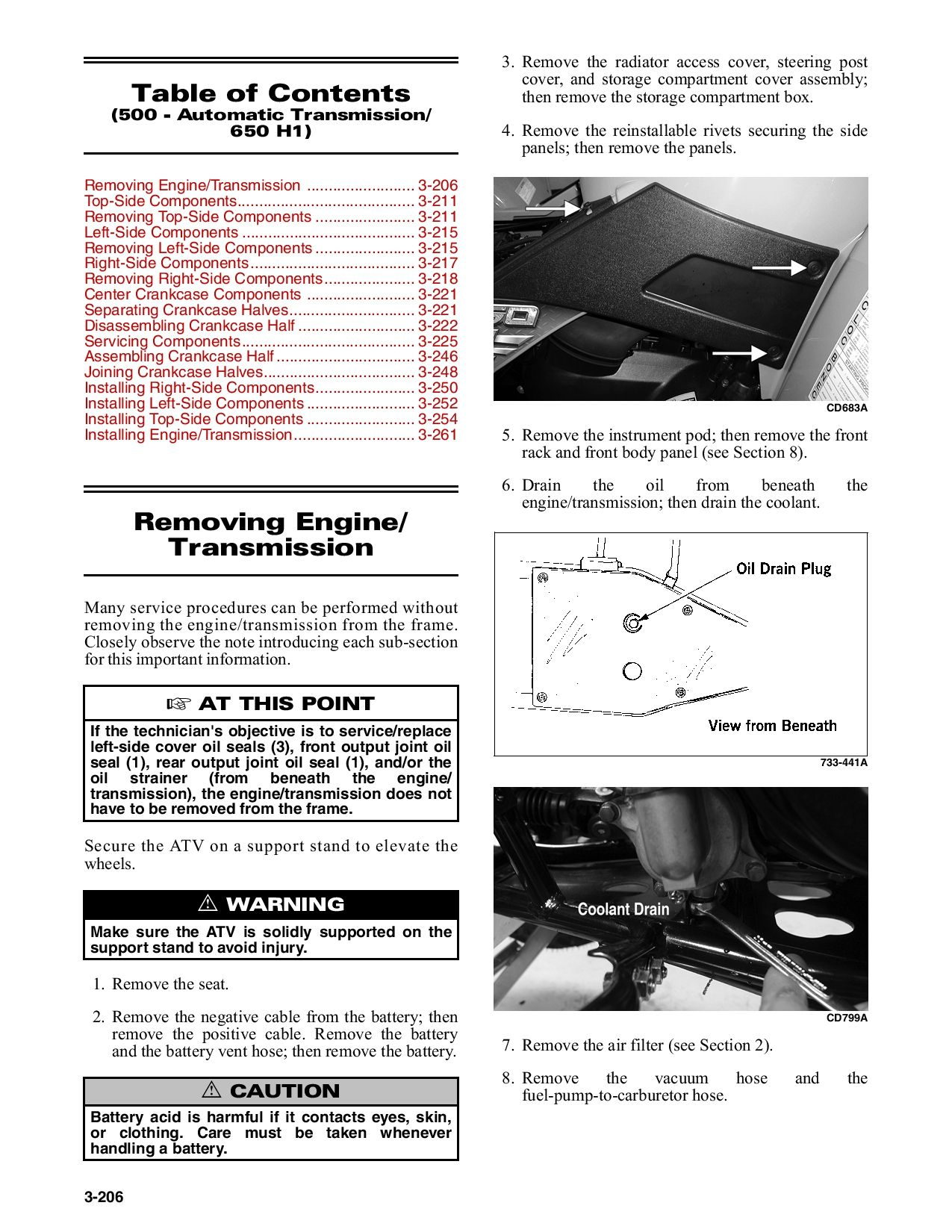 Arctic Cat 2005 Atv Service Manual 250 Up To 650 H1 Twin Part 2 Service Manual Pdf Download Repair Manuals Manual Pdf Download