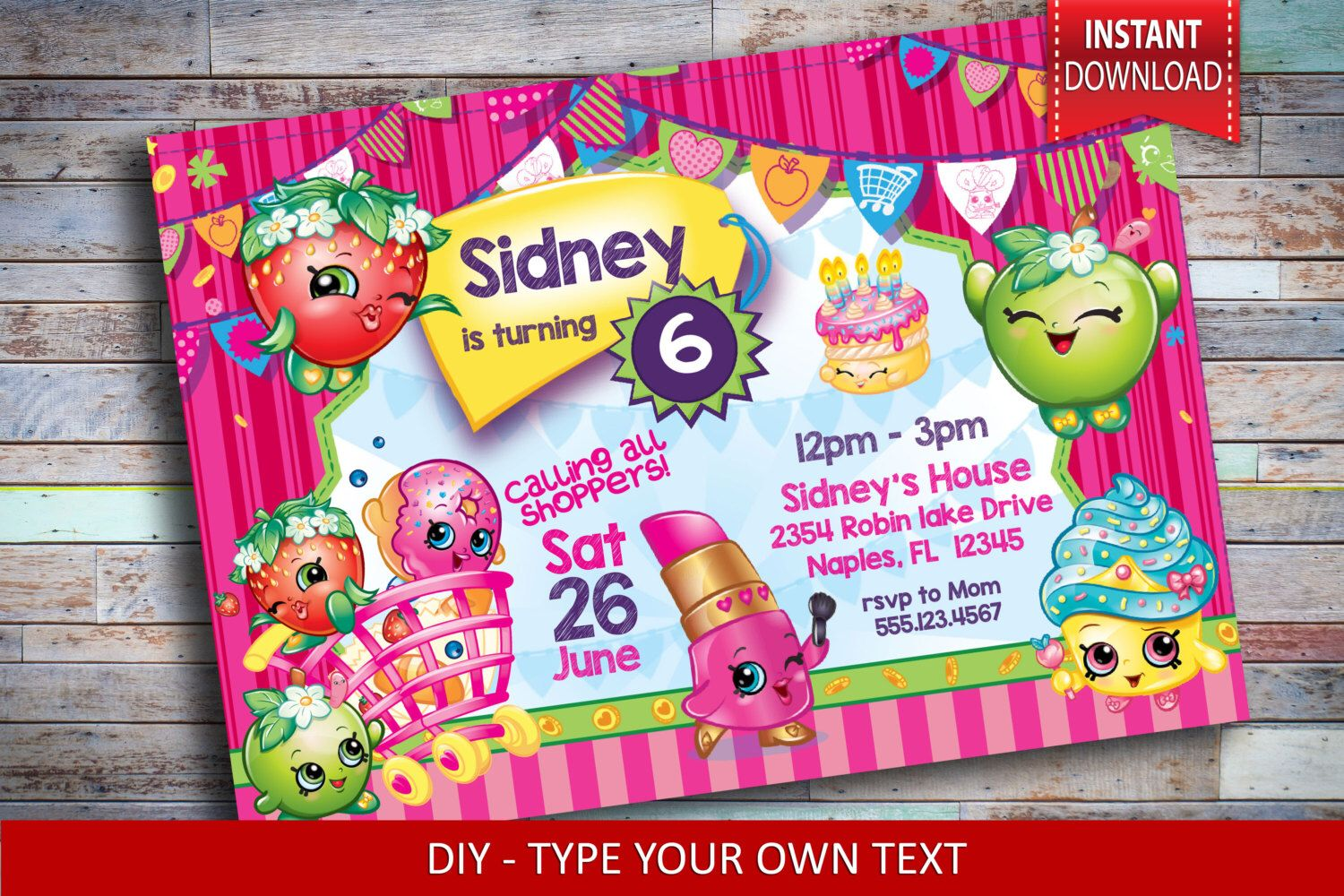 Pin By Stephanie Livesay On Shopkins 6th Birthday Party