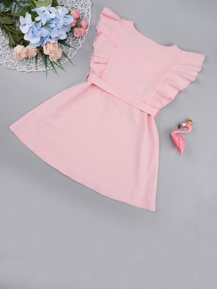 b6f12f62 Product name: Girls Slit Knot Back Stripe Shell Top & Shorts Set at SHEIN,
