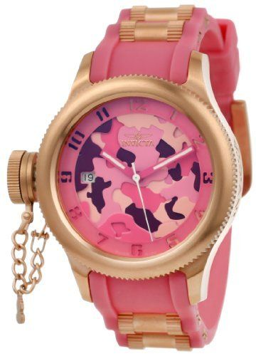 Invicta Women's 11352 Russian Diver Two Tone Pink Camouflage Dial Pink Polyurethane Watch Invicta,http://www.amazon.com/dp/B007HNFA0S/ref=cm_sw_r_pi_dp_hs2WrbD54AD34685