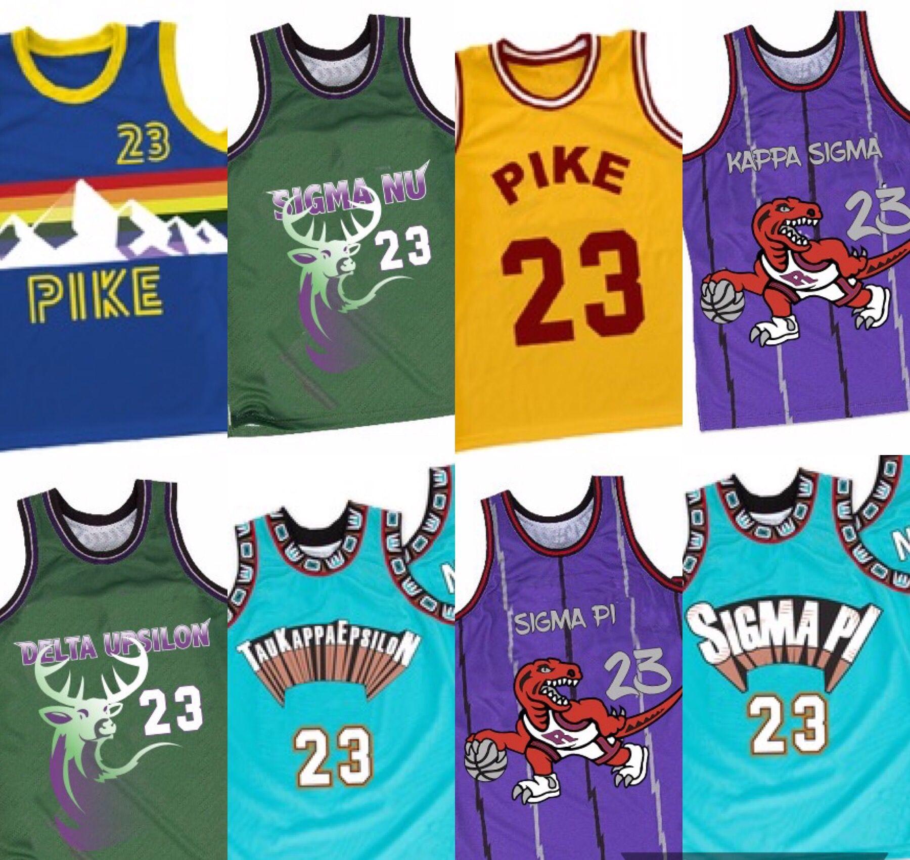 bb7a24d6d Customizable Throwback NBA Greek Organization Jerseys