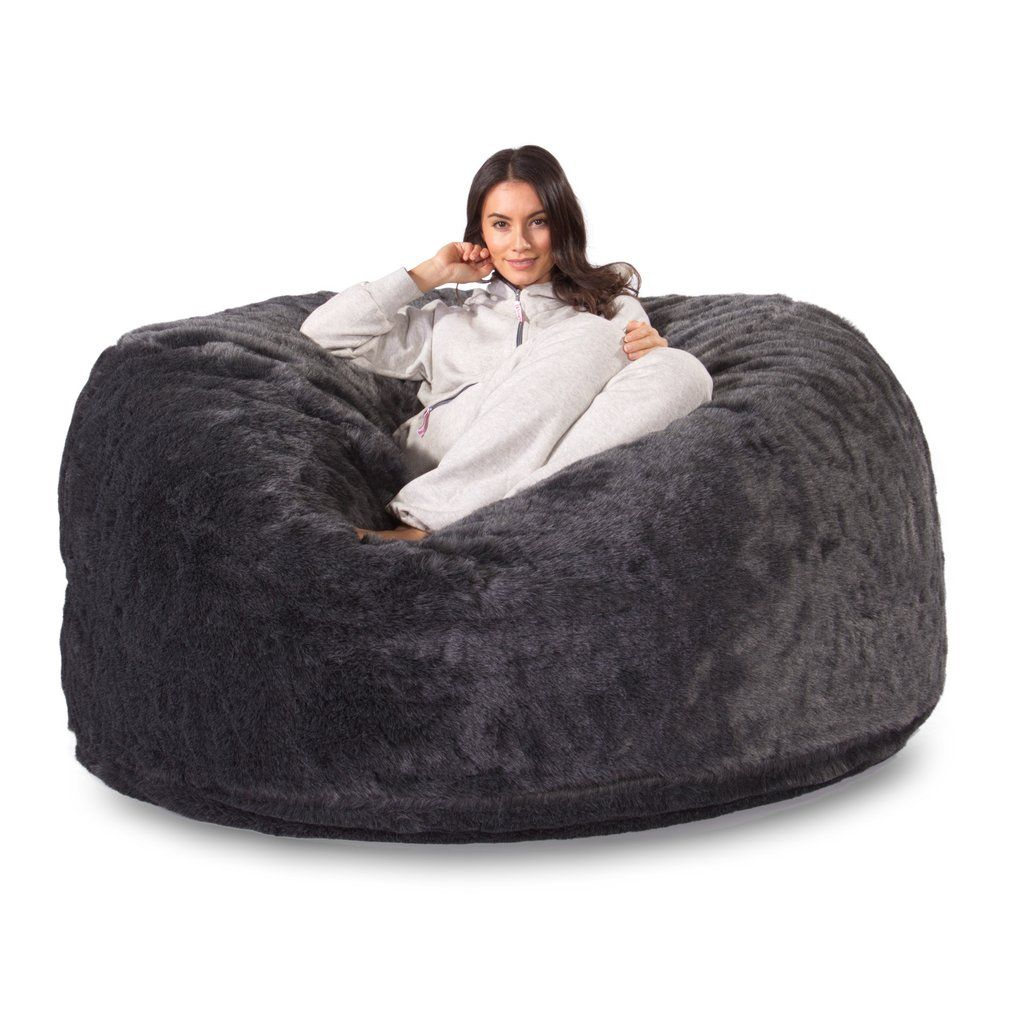 C1000 L Memory Foam Bean Bag Badger Black