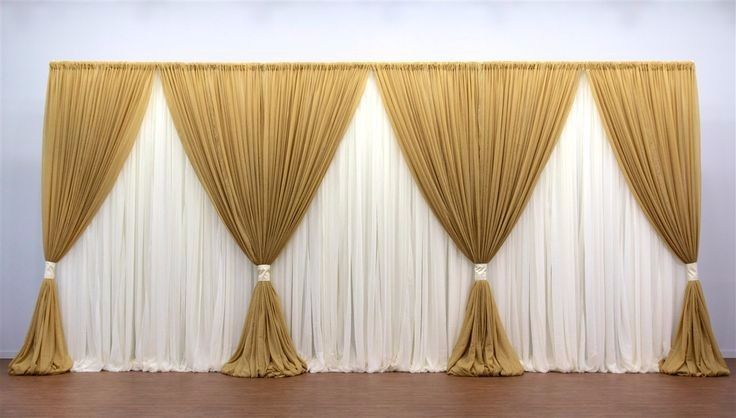 10ft20ft gold with white clear style wedding backdrop stage curtain 10ft20ft gold with white clear style wedding backdrop stage curtain wedding decoration junglespirit Image collections