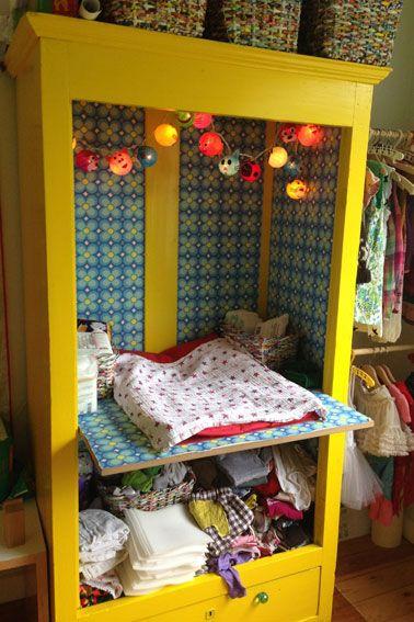 Indretning af børneværelse Katrine A - Smart pusleplads