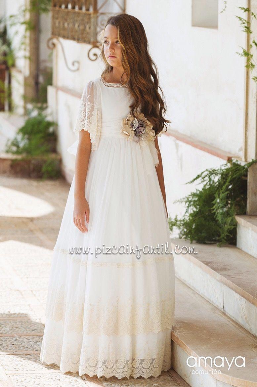 Pizca Amaya 2020 Vestidos De Comunion Sencillos Vestidos Para Primera Comunion Vestidos De Comunión