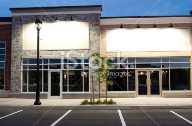 abandoned store fronts in