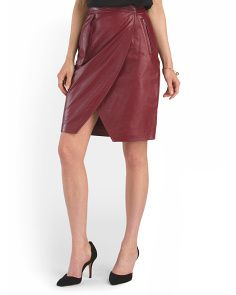 image of Leather Danielle Skirt