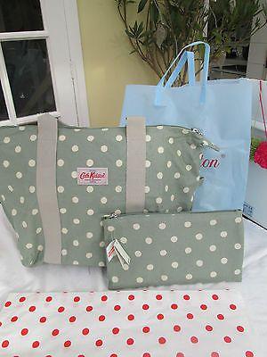 3256a7b02467 BNWT Pretty Cath Kidston Foldaway Bag In Sage Green Spot Free Gift Wrap
