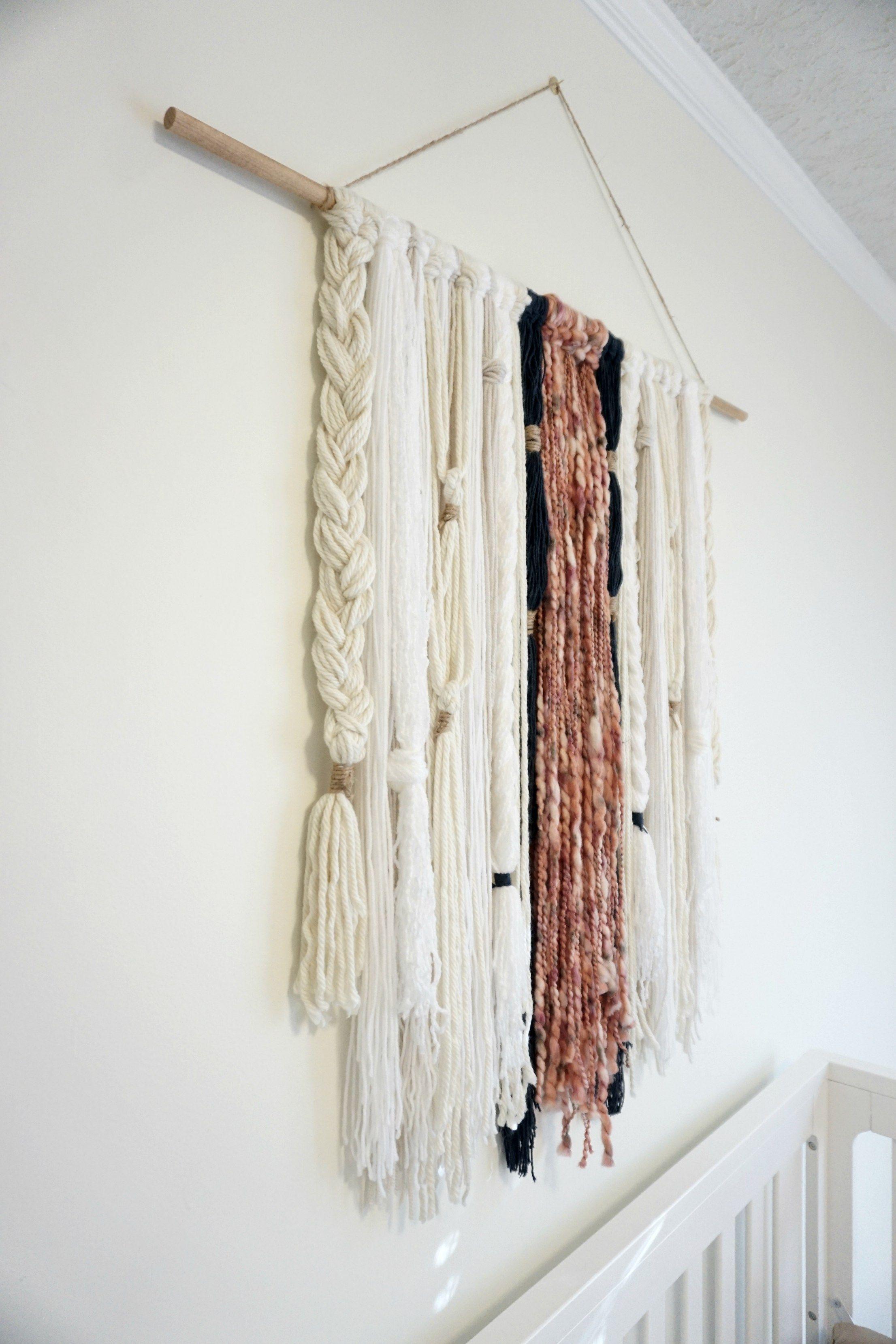DIY: Modern Boho Yarn Wall Hanging   Yarn wall hanging ... on Modern Boho Wall Decor  id=73361