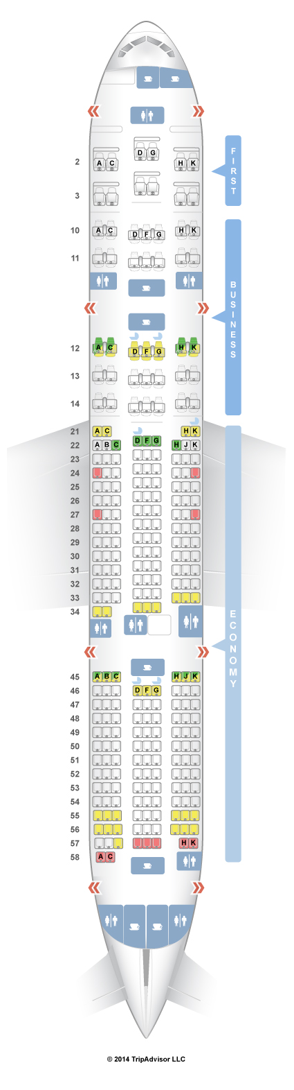 Seatguru seat map el al boeing also places  rh pinterest