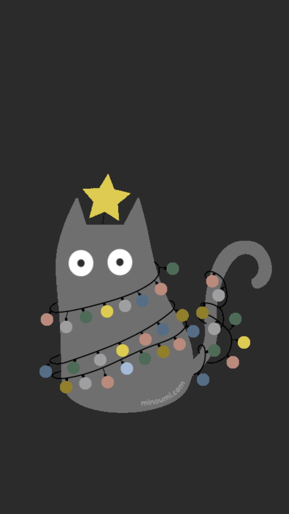 Pin By Angie Clatterbuck On Wallpapers Iphone Christmas Cats Cat Art Cat Greeting Cards