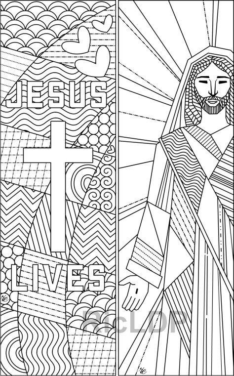 Photo of Set mit 8 Mal-Lesezeichen für Ostern; Christian Coloring Doodles; Digitaler Download