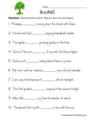 is are worksheet 1 worksheets verb forms and verb tenses. Black Bedroom Furniture Sets. Home Design Ideas
