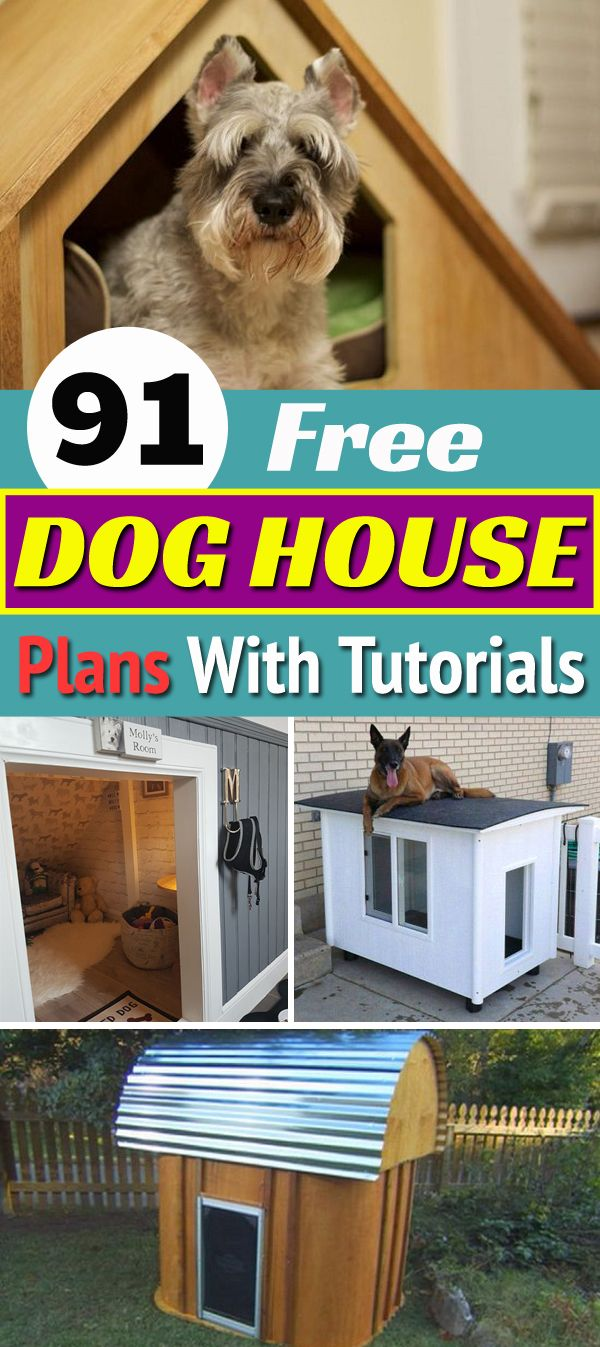 If You Re Building A Dog House Must Check Out These 90 Free Dog House Plans Diy Doghouse Diydoghouse D Dog House Plans Dog House Diy Dog House Diy Plans [ 1347 x 600 Pixel ]