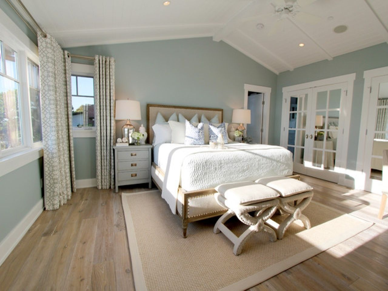 Rustic Master Bedroom Ideas Light Blue Walls With Regard To Size 1280 X