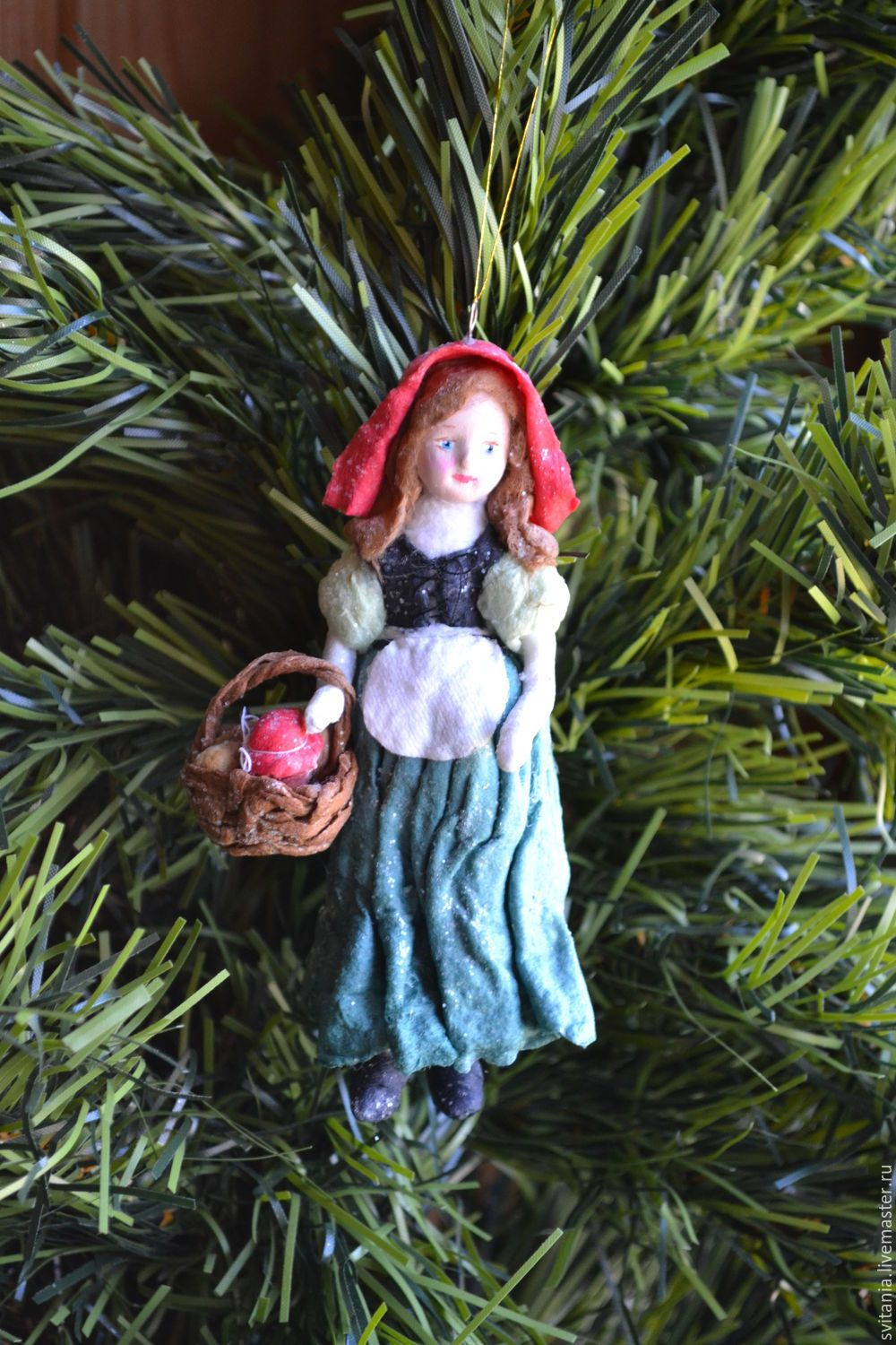 Buy Cotton Christmas toy little Red riding Hood on Livemaster online shop