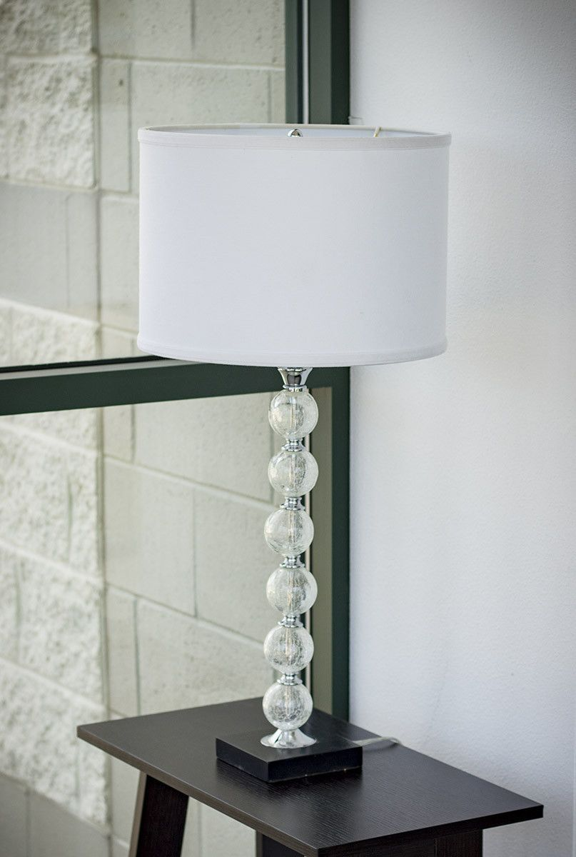 Chrome Table Lamp with Premium Drum