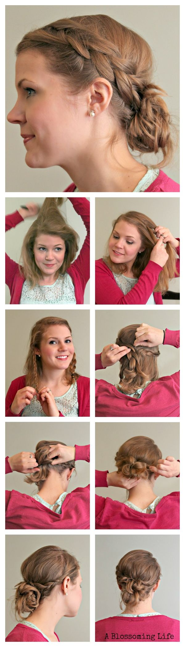 Diy easy braid updo tutorial by a blossoming life hair pinterest