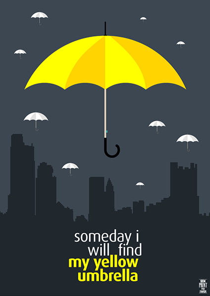 Yellow Umbrella How I Met Your Mother Poster O guarda-chuva amarelo...