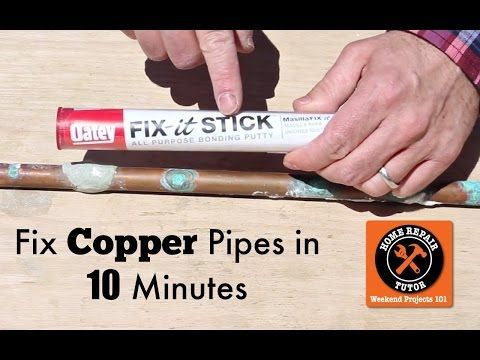 How To Fix A Pinhole Leak In Copper Pipe Your Tool Box Needs This Home Repair Tutor