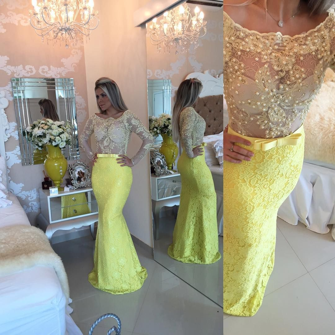 New arrival prom dressmodest prom dressstunning yellow long prom