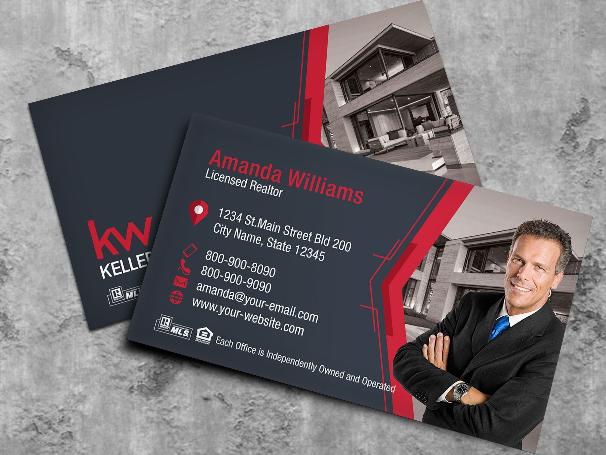 Keller Williams Business Card Real Estate Business Card Etsy Keller Williams Business Cards Realtor Business Cards Real Estate Business Cards