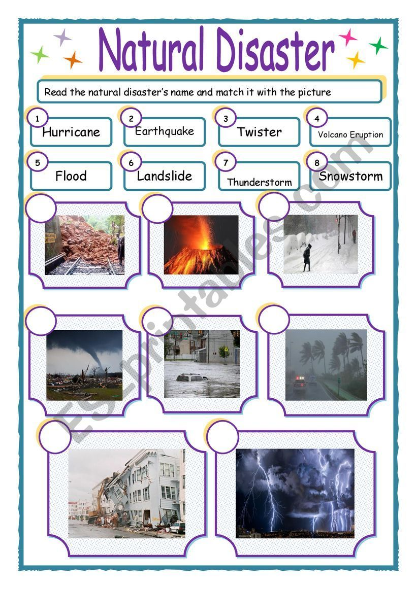 Natural Disasters Esl Worksheet By Raka26 Natural Disasters Activities Natural Disasters Natural Disasters For Kids
