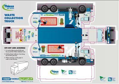 Paper Model Gosford Garbage Truck