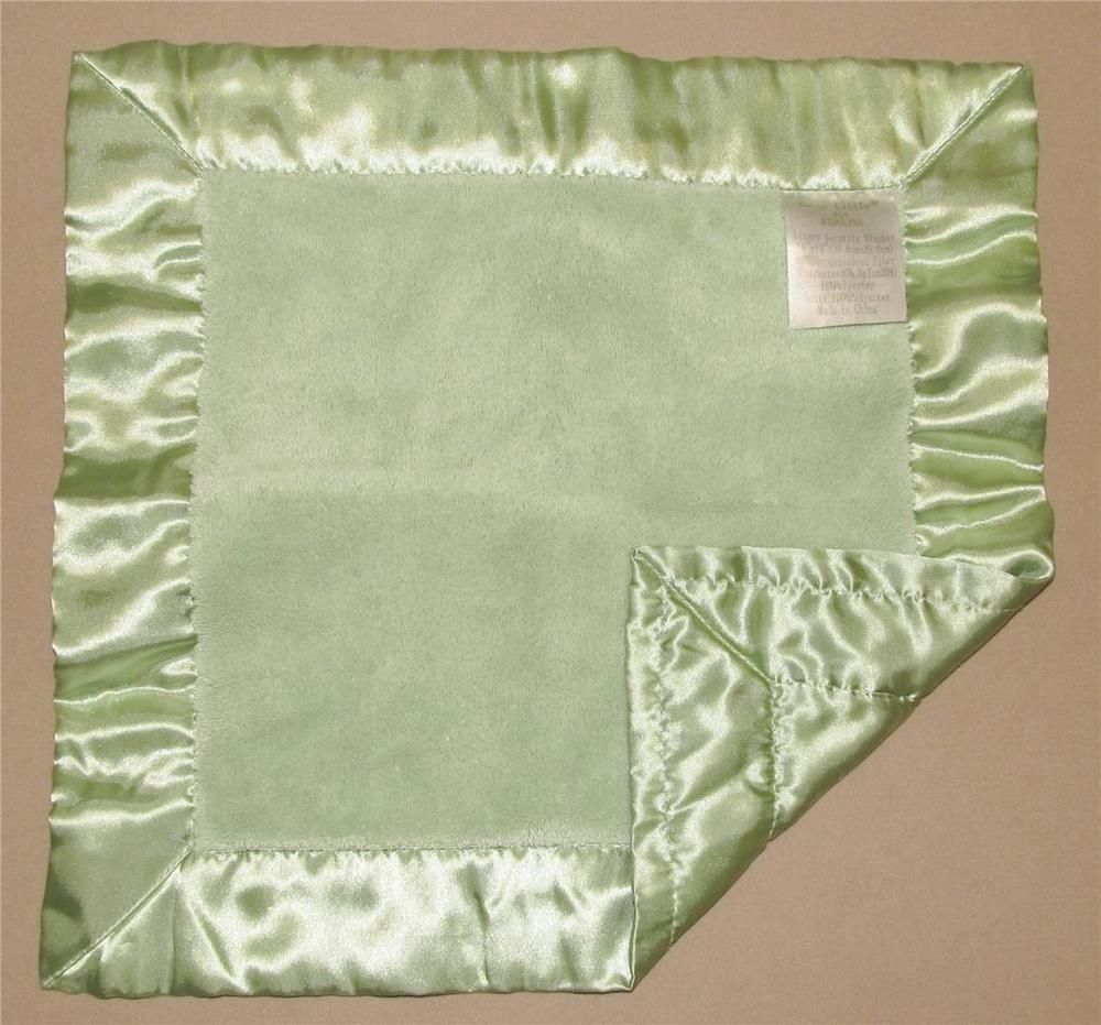 Katie little light green furry satin back trim security blanket katie little light green furry satin back trim security blanket square lovey katielittle security blankets pinterest aloadofball Image collections