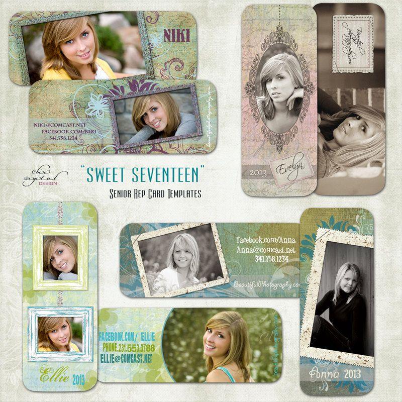 Senior Rep Card Templates Millers Lab Sweet Etsy Senior Rep Cards Card Templates Custom Templates