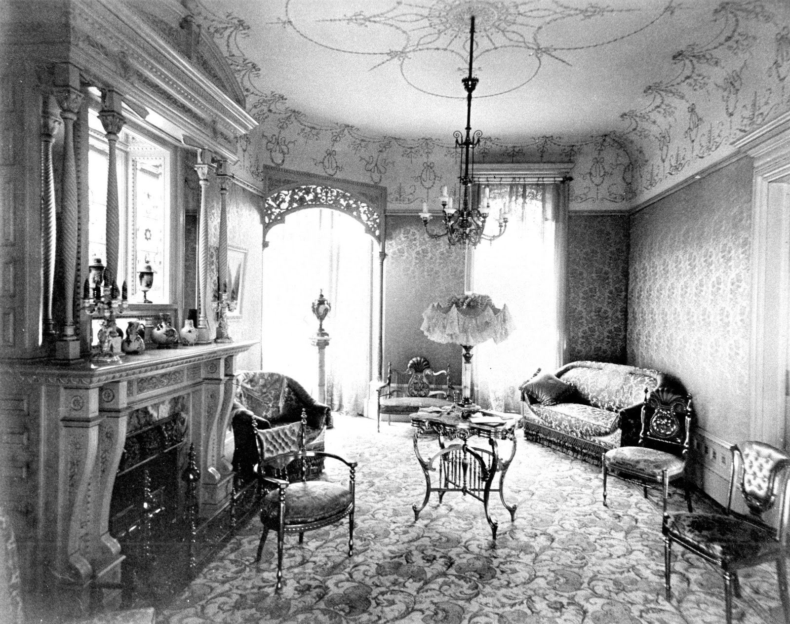 1900 living room 1890s house interiors house cortland new york 10969