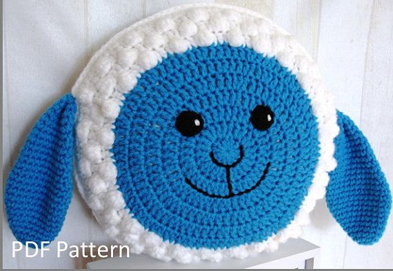 Sheep Pillow Cushion Pdf Crochet Pattern Crochet Pillows